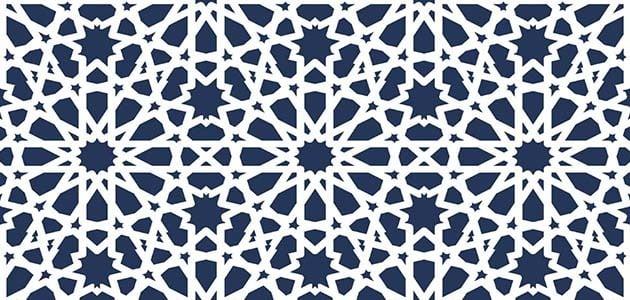 زخارف اسلامية Png مفرغة فيكتور هندسية بسيطة للتصميم